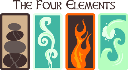 This design illustrates the four ancient elements.  Look for the other designs of this set to stitch out a lovely set of towels. Stok Fotoğraf - 43867477