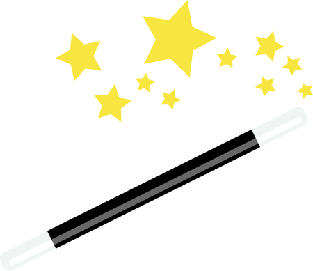 Create magic with a magicians wand. Çizim