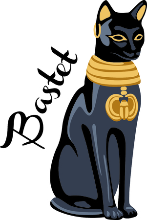 Celebrate egyptian culture with a beautiful cat statue.