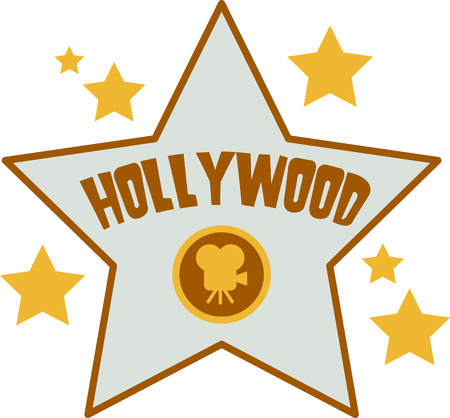 hollywood star: If you enjoy the movies you will love having your own star.