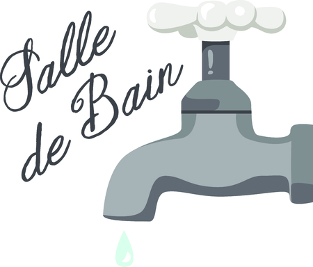 This simple water handle is a simple yet lovely embellishment for bath dcor.  Absolutely lovely on hand towels to arrange by your sink. Ilustrace