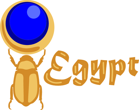 Celebrate egyptian culture with a beautiful scarab. 向量圖像