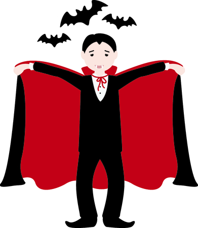 Decorate for Halloween with scary dracula.