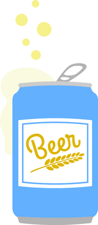 bubbling: Serve up this bubbling beer for your home decor or as a gift. Illustration