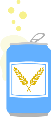 cerveza: Serve up this bubbling beer for your home decor or as a gift. Illustration