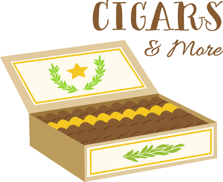 Box of cigars for tobacco fanciers.