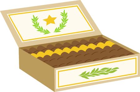 Caja de cigarros para los aficionados de tabaco. Foto de archivo - 43867531