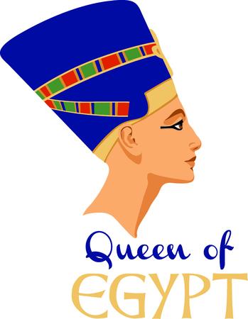 네페르티티의 조각과 이집트 문화를 축하합니다.