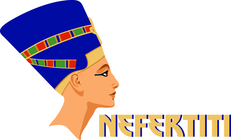 Celebrate egyptian culture with a sculpture of Nefertiti.