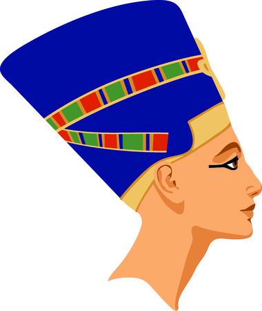 Celebrate egyptian culture with a sculpture of Nefertiti.