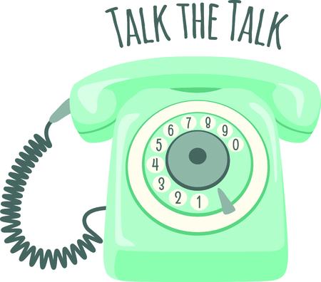Retro roterende telefoon om te gebruiken voor uw grappige projecten. Stock Illustratie
