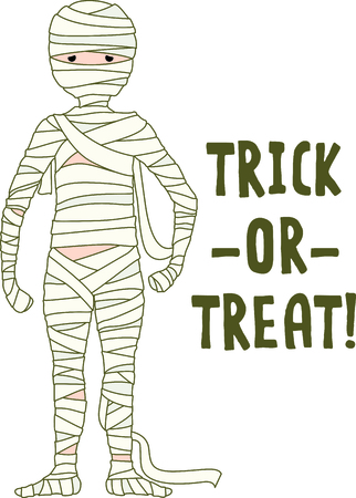Decorate for Halloween with scary mummy. Иллюстрация
