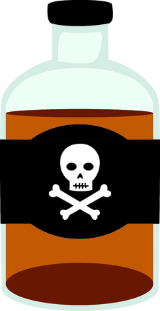 boned: Store your favorite liquor in this cross boned bottle.