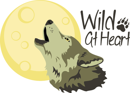 lupus: A howling wolf is a great symbol for a nature project. Illustration