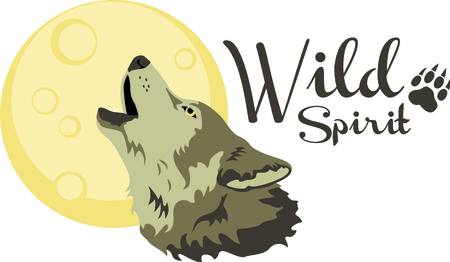 coyote: A howling wolf is a great symbol for a nature project. Illustration