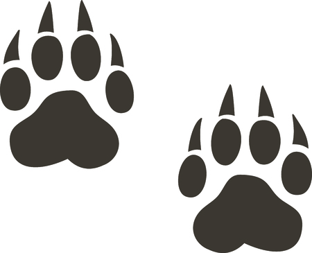 lupus: A paw print is a great symbol for a nature project.