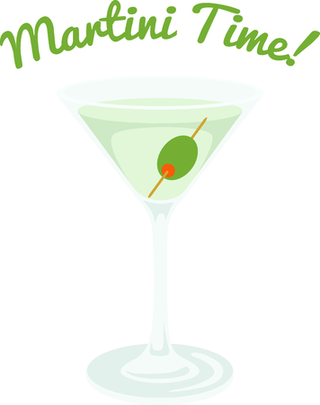 mixed drink: Serve up this Martini cocktail for your home decor or as a gift.