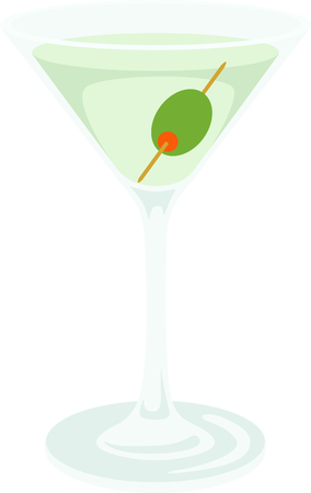 Serve up this Martini cocktail for your home decor or as a gift.