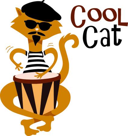 Time to throwback to the classic retro cat.  A perfect image for your next design
