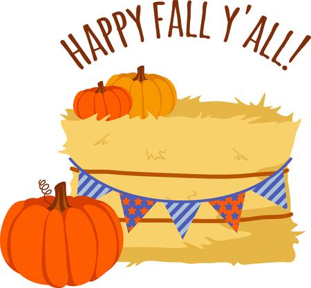 가을은 호박 수확에 감사 드리는 계절입니다. 일러스트