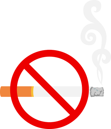 habit: This smoking cigarette can be used for positive and negative sayings. Illustration