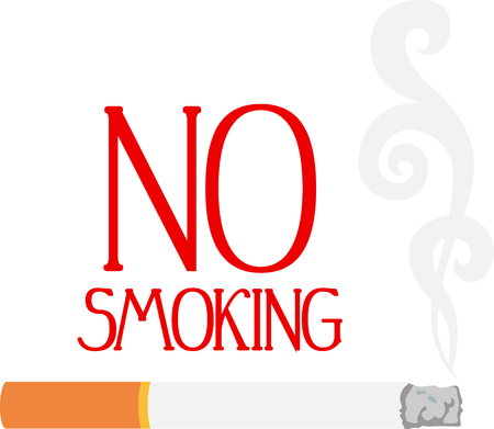smoking cigarette: This smoking cigarette can be used for positive and negative sayings. Illustration