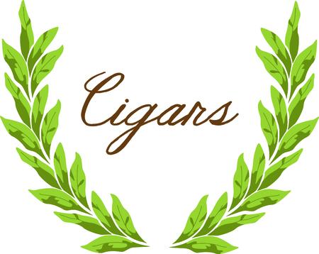 El tabaco deja corona de flores para los admiradores de fumar. Foto de archivo - 43867602
