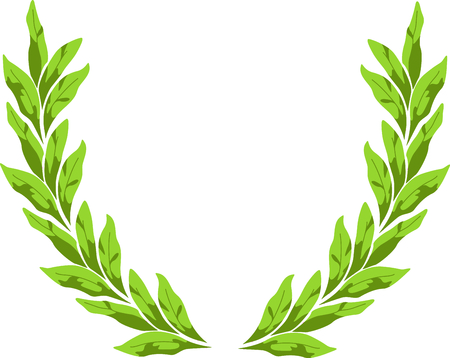 Tobacco leaves wreath for smoking admirers.