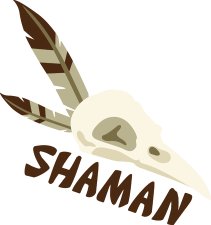 healer: Show off your tribal roots with a shaman design. Illustration