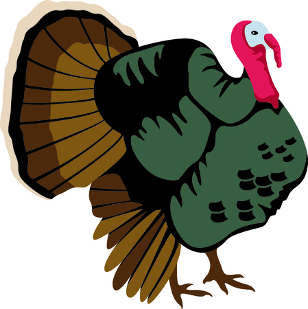 gobbler: Fall is the season to give thanks. Add this turkey to your Thanksgiving design.