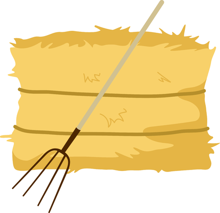 Fall is the season to give thanks. Add this hay bale to your Thanksgiving design. Ilustração