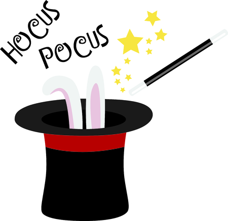 hocus pocus: Create magic with a magicians wand. Illustration