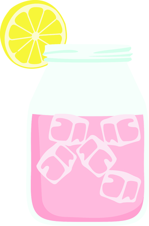 A jar of pink lemonade is perfect for those warm days.