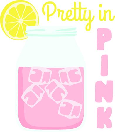 Glass Of Pink Lemonade Clipart