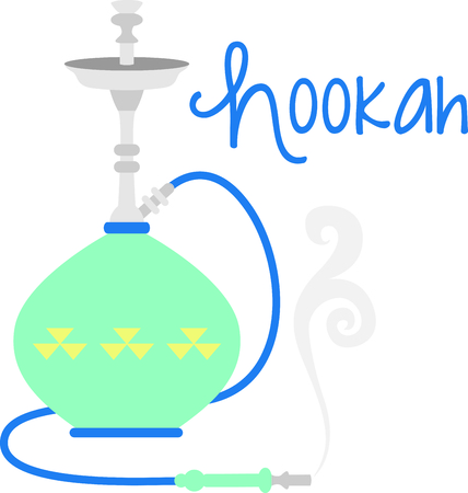 Colorful hookah pipe for flavored smoking enthusiasts.