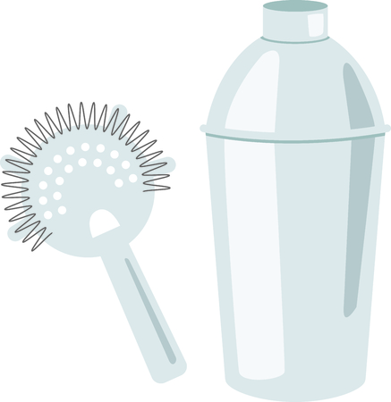 シェイク ・ アップ、家の装飾や贈り物としてあなたのお気に入りのカクテルを提供しています。  イラスト・ベクター素材