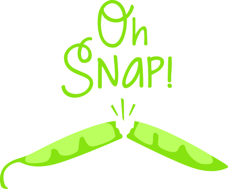 snap bean: Snapping green bean for your home kitchen decor or as a gift.