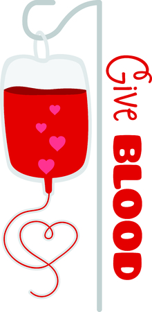 Show that you support giving blood to save lives.