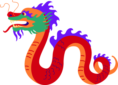 winged dragon: This Chinese dragon is perfect for your next design.
