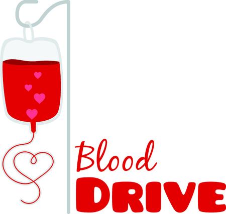 Laat zien dat je het geven van bloed om levens te redden te ondersteunen. Stock Illustratie