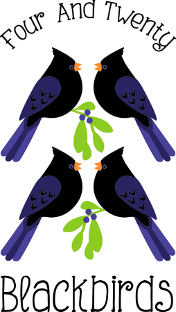 twelfth night: A favorite holiday song, The tweleve Days of Christmas. The forth day, four Calling Birds. Or is it four black birds from the nursery rhyme