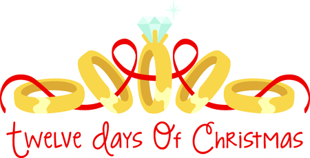 12 days of christmas: A favorite holiday song, The tweleve Days of Christmas. The fifth day, five golden rings.