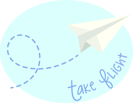 Let your imagination take flight with all the different ways you can use this airplane design.