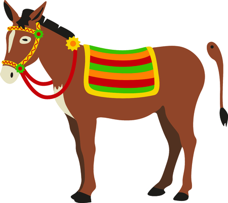 cute guy: Our cute donkey needs his tail pinned on for our cute little guy.  Hes a cute addition to your party gear.