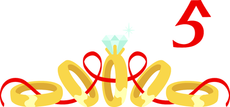 fifth: A favorite holiday song, The tweleve Days of Christmas. The fifth day, five golden rings.