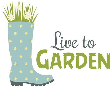 Cute polka dot Wellington boot planter for the flower gardener.