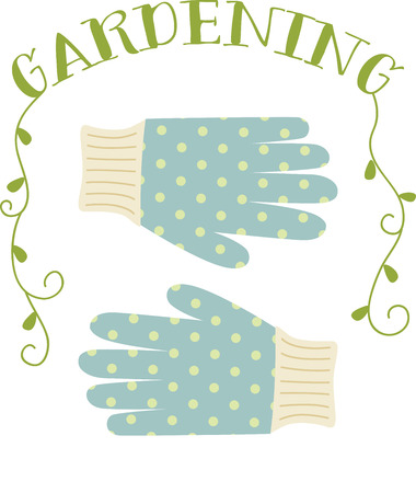 wellies: Cute polka dot gloves for the gardening enthusiast.