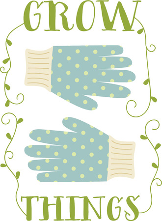 Cute polka dot gloves for the gardening enthusiast.