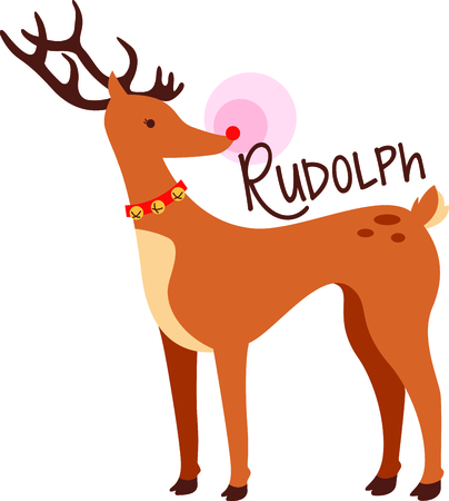 red nose: Rudolph the Red Nose Reindeer for that special child at Christmas.