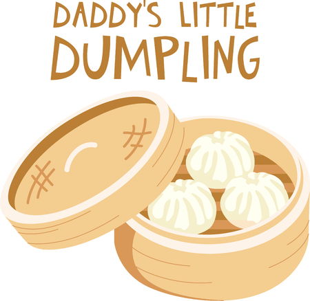 This Chinese dumpling is perfect for your next design. Stock Vector - 43867828